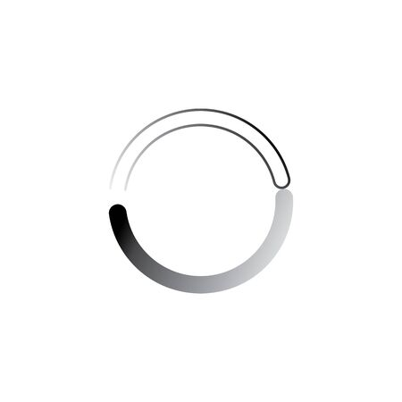 Circle loading spinning website template buffering waiting indicator icons Ilustração
