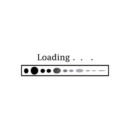Flat loading bar website template buffering waiting indicator icons