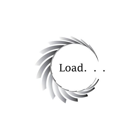 Circle loading spinning website template buffering waiting indicator icons Illustration