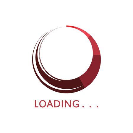 Circle loading spinning website template buffering waiting indicator icons Иллюстрация