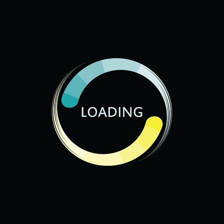 Circle loading Logo indicator template isolated background vector illustration