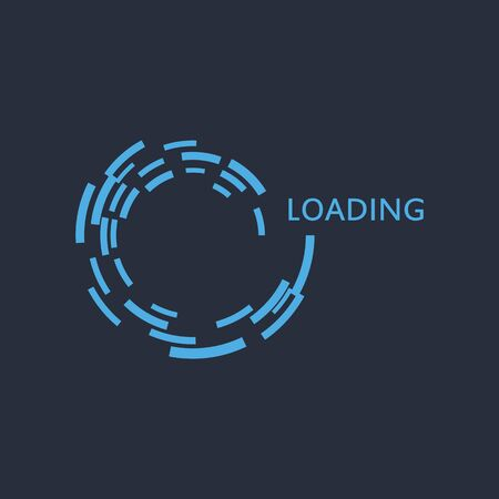Circle loading Logo indicator template isolated background vector illustration