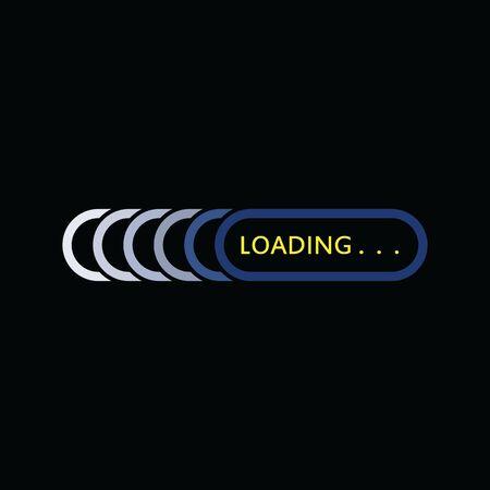 Flat loading Logo indicator template isolated background vector illustration