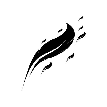 Feather smooth Icon Vector Logo Template Illustration Design 向量圖像