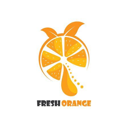 Fresh Orange fruit logo inspiration template icon illustration design