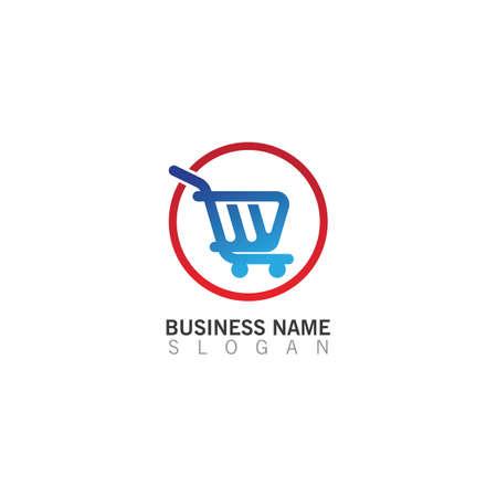 Shopping Cart Logo creative template, Shop Logo Vector Inspiration design