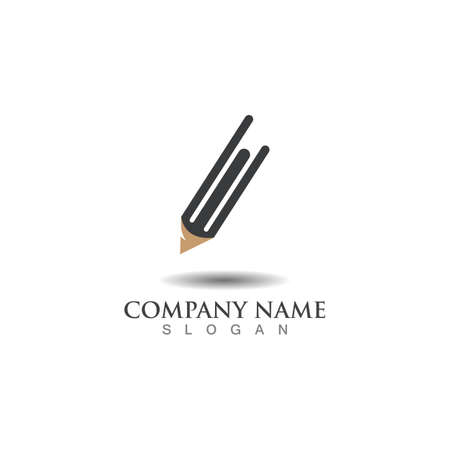 Pencil creative design inspiration or Education template