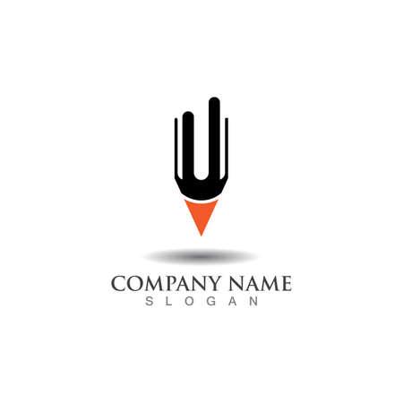 Pencil logo creative design inspiration or Education template Vector