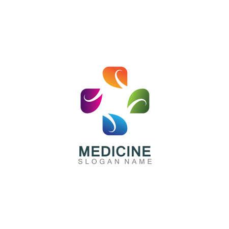 Medical logotype health care design cross illustration template Logo