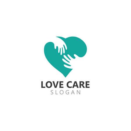 Creative Love and Care Logo Design inspiration Template Logos