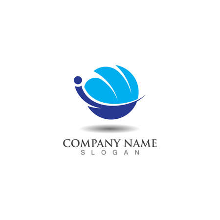 Logistic Logo for express business and delivery company template