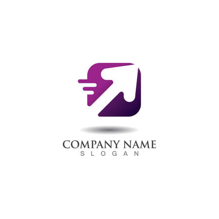 Logistic Logo for express business and delivery company template Logo