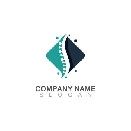 Spine chiropractic Care logo designs concept, Backbone Logo template Logos