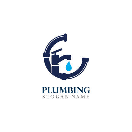 Plumbing service Logo Template Design Concept, Creative Symbol, Icon