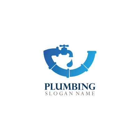 Plumbing Logo Template Design Concept, Creative Symbol, Icon