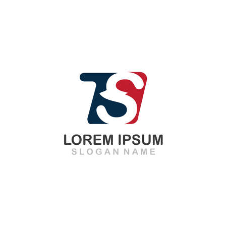 Letter Initial TS Vector Logo Template design creative