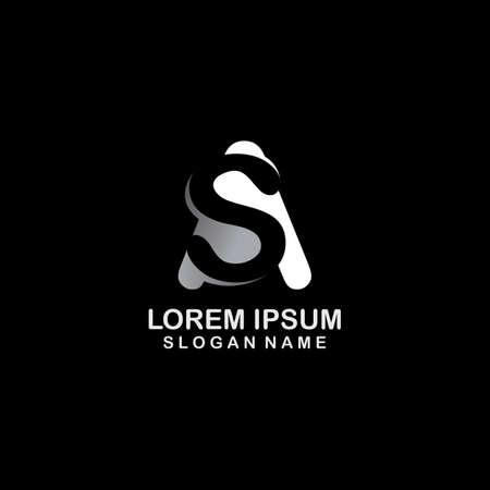 Letter AS, SA Logo Design inspiration creative template symbol