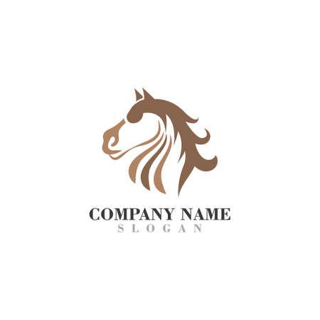 Head Horse logo design concept simple graphic template vector