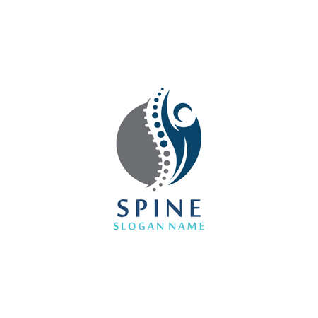 Spine care Clinic, Chiropractic, Concept Logo Design Template Иллюстрация