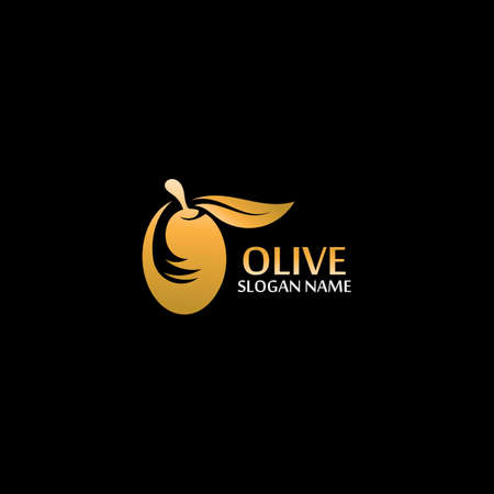 Olive oil with green leaves branch. Natural vector design Иллюстрация