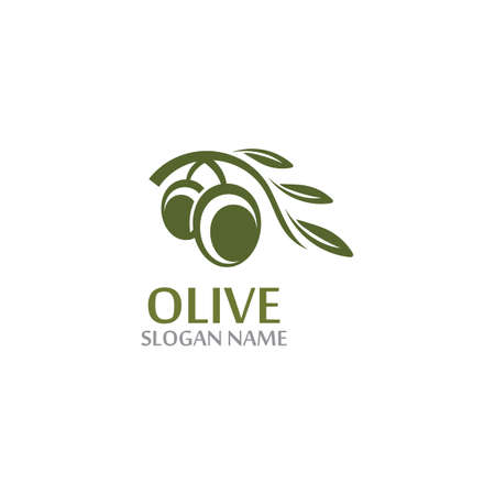 Olive Oil template icon design health fruit vegetable