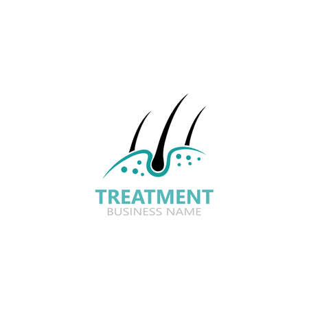 Hair treatment care dermatology logo icon illustration template design