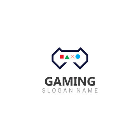 Controller Game Joystick logo image template icon Vector gamer design Illustration