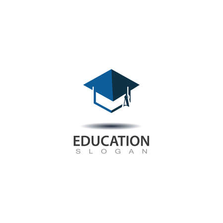 Modern hat graduation for education logo, abstract education design Logo