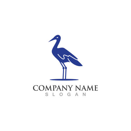 Stork logo image simple design creative template vector concept