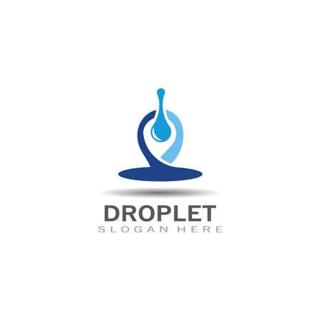 Droplet water creative simple vector logo design template