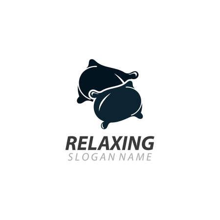 Pillow Relaxing logo business vector illustration design template