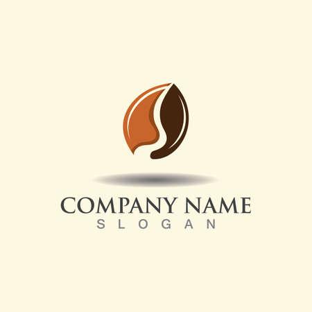 Coffee Bean logo template. Creative vector design idea illustration forum Logos
