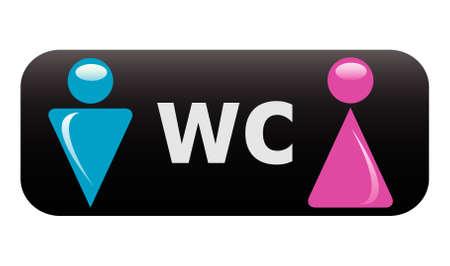 restroom sign:   WC sign