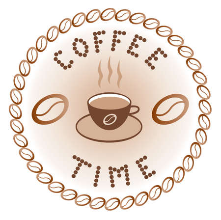 break time: sign of coffee time