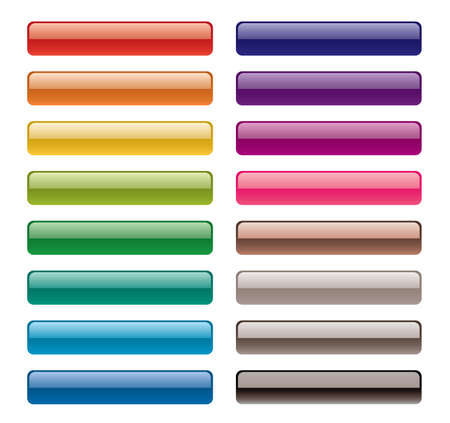 colorful long buttons Stock Vector - 8107001