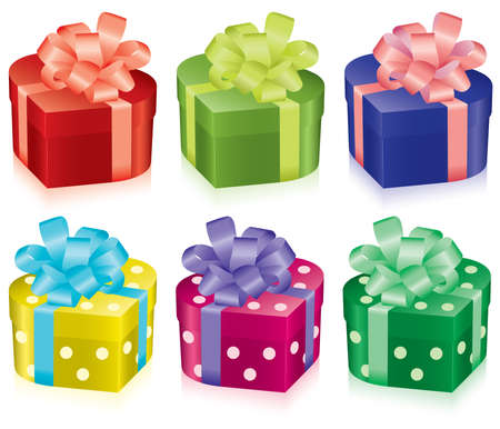 life event: vector colorful gift boxes for any life event