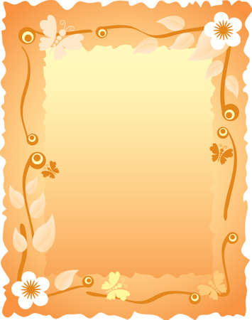 greeting card with floral frame Vector