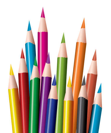 pastelky: bunch of colored pencils