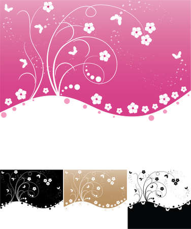 set of abstract floral backgrounds with space for your text Stock Vector - 8776932