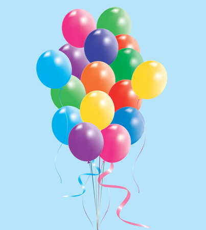 vector illustration of colorful balloons  Stock Vector - 8778613
