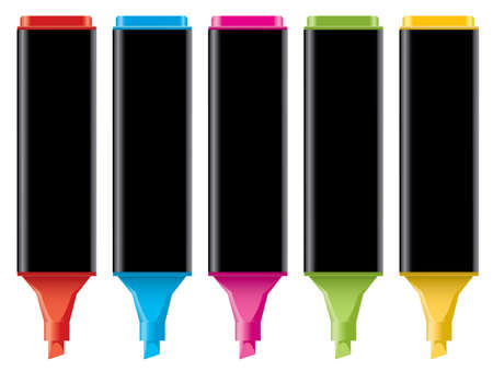 vector colorful highlighters Vector