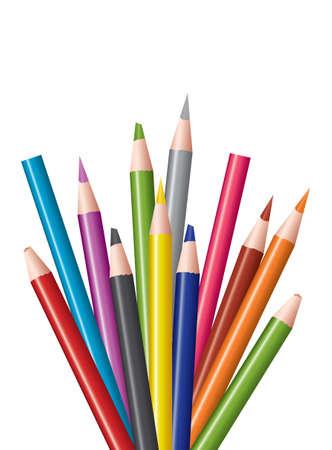 vector bunch of colored pencils 矢量图像