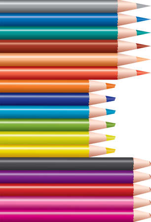 vector set of colored pencils 矢量图像