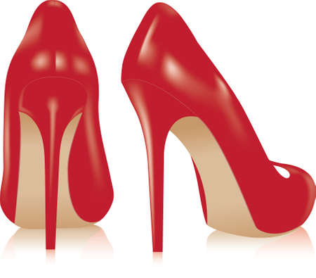high fashion: vector pair of high heel shoes Illustration