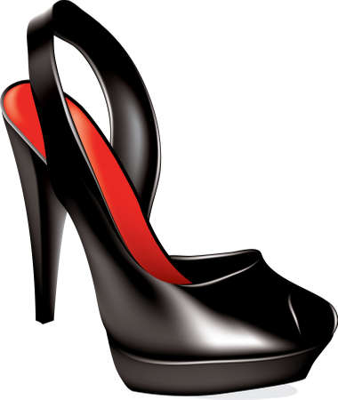 high heel shoe Stock Vector - 9092613