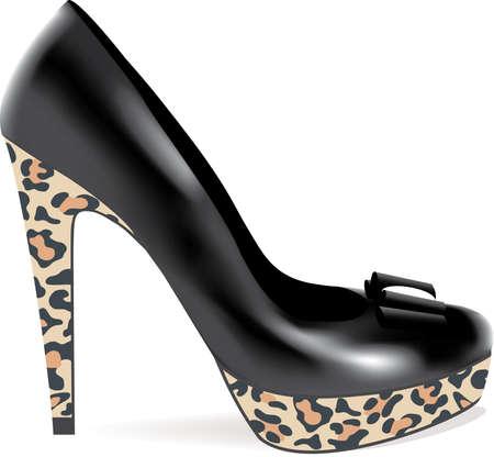 high heel: high heel shoe Illustration