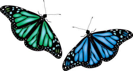 illustration of colorful butterflies on white background Stock Vector - 9180102