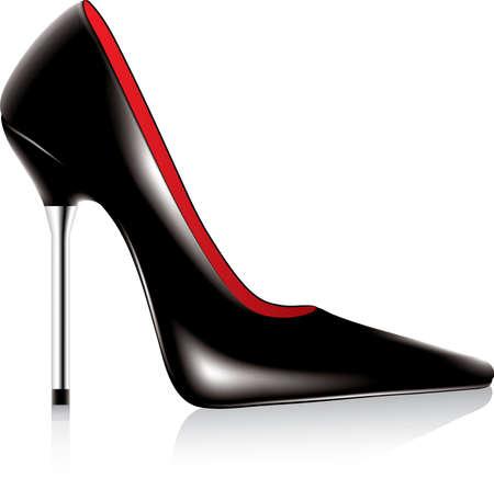 chaussure: chaussure de haut talon du vecteur avec metal stiletto