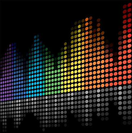 vector color scale equalizer on black background Vector