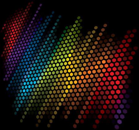 Vector equalizzatore scala colore su sfondo nero